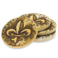 Fleur-de-Lis Coasters (Set of 4) - Bed Bath & Beyond