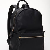 Classic Faux Leather Backpack