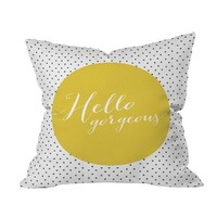 DENY Designs Hello Gorgeous Throw Pillow