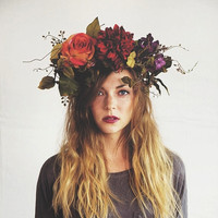 Dark Woods Flower Crown