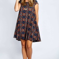 Edie Cap Sleeve Swing Dress