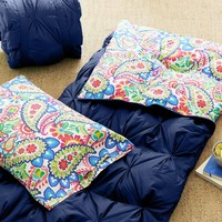 Pintuck Sleeping Bag + Pillowcase, Paisley