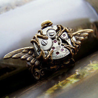 1ofmykind Jewels by Jody McGill ? Steampunk Time Machine Ring BACK IN STOCK