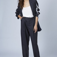 SPORTY BLAZER AND MENSY TROUSERS
