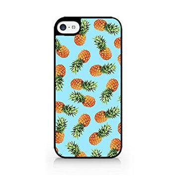 Pineapple Pattern - Tropical Pattern - Summer Pattern - Tropical Fruit Pattern - iPhone 5C Black Case