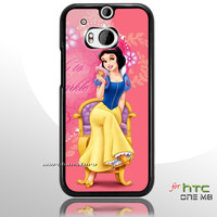 Pink Snow White HTC One M8 Case
