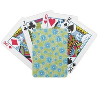 Fun Flowers Playing Cards from Zazzle.com
