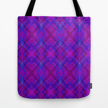 Berry Argyle Tote Bag by 319media