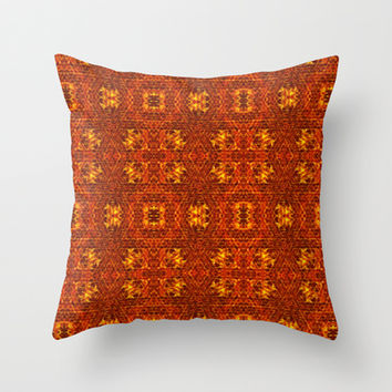 Lava Tapestry Throw Pillow by 319media