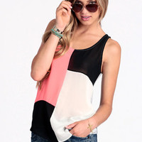 Mod Spot Colorblock Top - $29.00 : ThreadSence.com, Your Spot For Indie Clothing &amp; Indie Urban Culture