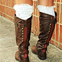 PRE ORDER Paint The Town Red Brown Riding Boot