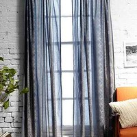 Foil Block-Print Curtain - Urban Outfitters
