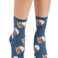 ModCloth Owls Nocturnal Sights Socks