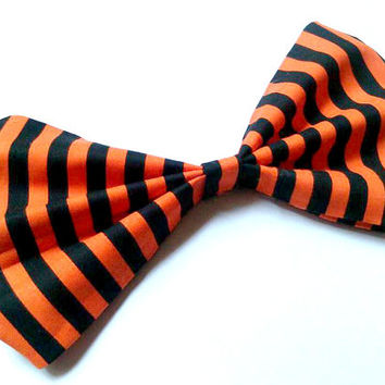 Halloween Stripes Big Hair Bow