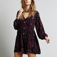 Free People Womens Lucky Loosey Shapeless Dress
