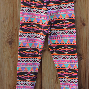 GIRLS' COLORFUL GEOMETRIC LEGGINGS | Paper Kranes