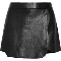 Jonathan Simkhai Leather shorts – 60% at THE OUTNET.COM