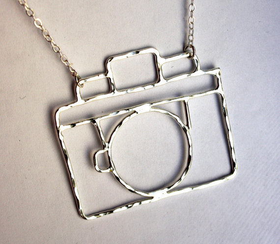 Sterling Silver Old Fashioned Camera Necklace- Handmade by Rachel Pfeffer- Holga