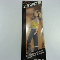 Vintage Barbie doll Jordache Jeans barbie doll 1980s 1981 High fashion doll Un opened still in box yellow shirt blue jeans