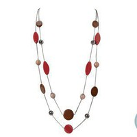 Double Strand Mixed Bead Necklace at LAURA ASHLEY