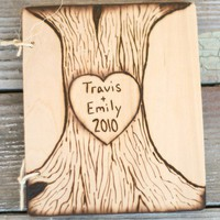 Wedding Envy / Personalized Heart and Arrow Wedding Guest Book by braggingbags