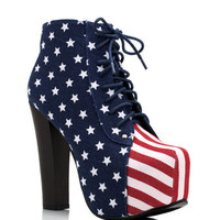 american-flag-lace-up-bootie BLUE - GoJane.com