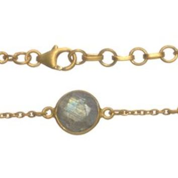 #Gold Plated with #Labradorite Stone #Bracelet
