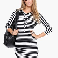 Sail Away Hooded Dress