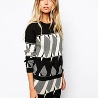Vila Aztec Knit Co-Ord at asos.com