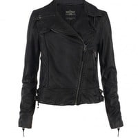 Herero Leather Biker Jacket