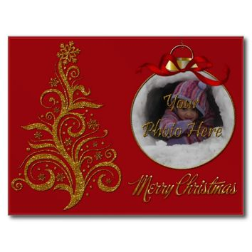 Postcard Whimsy Christmas Tree-Red