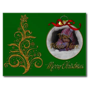 Postcard Whimsy Christmas Tree-Green