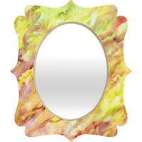 Rosie Brown Marble Veins Quatrefoil Mirror