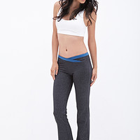 FOREVER 21 Heathered Fit & Flare Pants Charcoal/Midnight