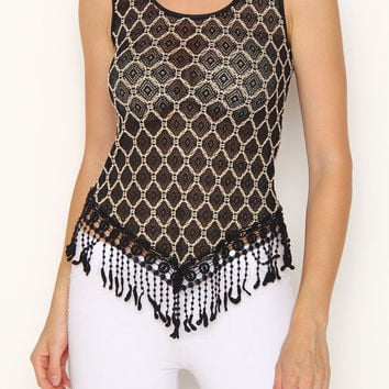 FRINGY LACE TANK TOP – Jaci Boutique
