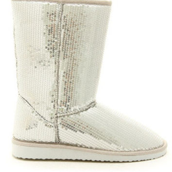 SILVER SEQUINS COZY MOUNTAIN SNOW BOOTS