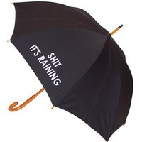 Shit It&#x27;s Raining Black Umbrella