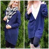 Hayes Valley Navy Button Down Cardigan