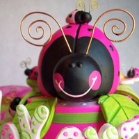 Ladybug Birthday cake topper  children birthday party centerpiece