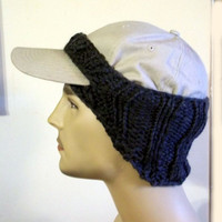 Baseball Cap Cover Knit gray