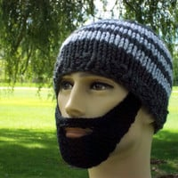 Bearded Beanie Gray L/XL