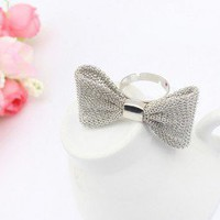 Mesh Bow Tie Fashion Ring  | LilyFair Jewelry