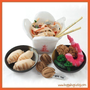 Chinese Take Out - PDF Felt Food Pattern (Chow Mein, Shrimp, Tempura Shrimp, Peas, Broccoli, Fortune Cookie, Gyoza, Take Out Box)