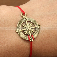 Bracelet-adjustable compass charm bracelet, compass bracelet for gifts