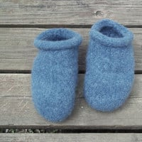 Felt Clog Slippers Denim