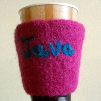 Coffee Cozy Knit Orchid