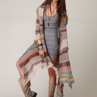 Relais Knitwear Maxi Stripe Cardigan at Free People Clothing Boutique