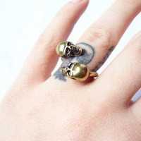 Double Skull Ring   |  Dark Moon Boutique