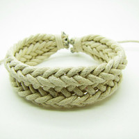 fashion Adjustable leather Cotton Rope Woven Bracelets mens bracelet cool bracelet jewelry bracelet bangle bracelet  cuff bracelet 853S