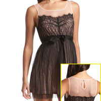 Tie-Waist Lace Dress